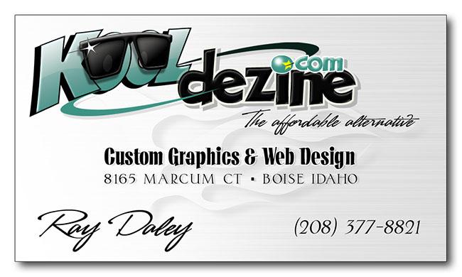 Kooldezine custom designed business cards business cards colourmoves